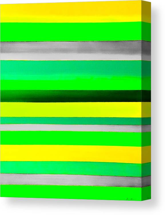Stripes Canvas Print featuring the painting Sky Stripes 10 by Barry Knauff