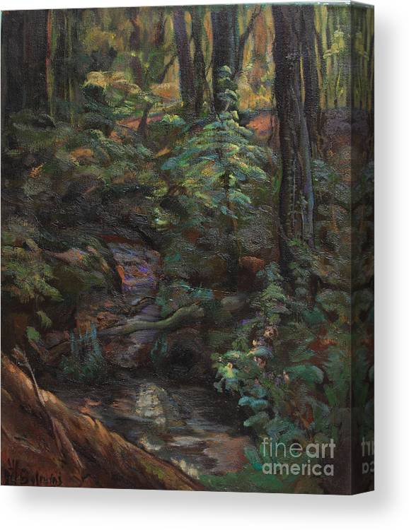 Oil Paintings Canvas Print featuring the painting Southern Jungle by Maris Salmins