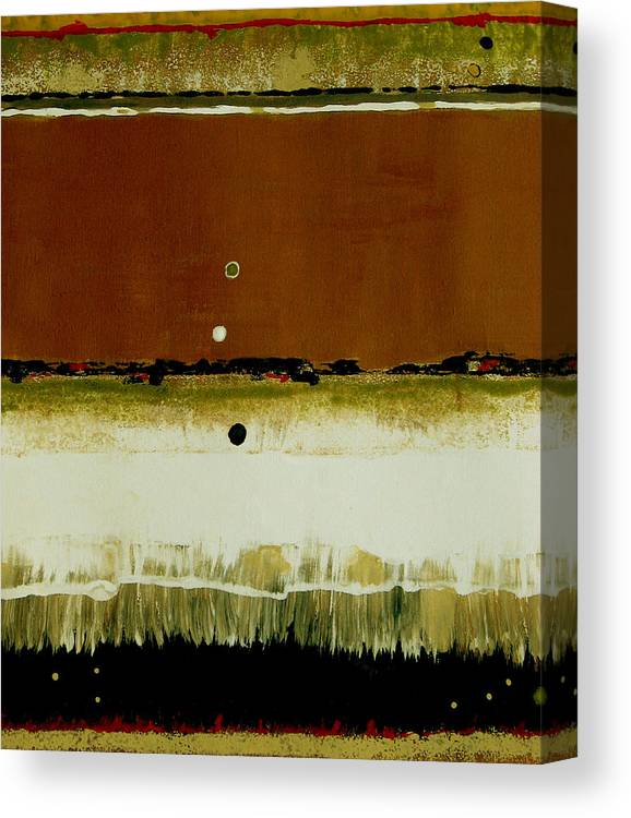 Abstract Canvas Print featuring the painting Whats Your Line by Ruth Palmer