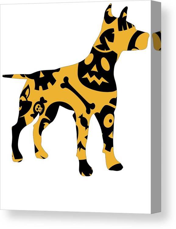 Beagle Canvas Print featuring the digital art Halloween Dogg by Kaylin Watchorn
