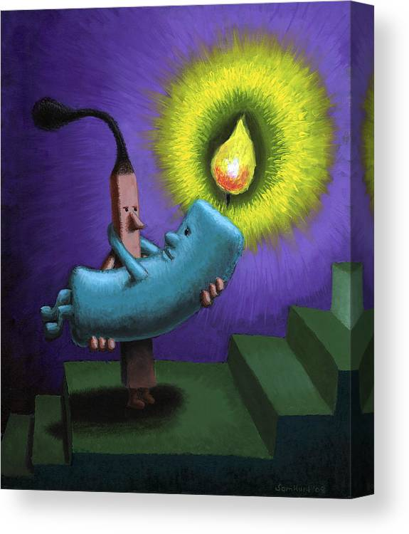 Candle Canvas Print featuring the painting Hope by Sam Hurt