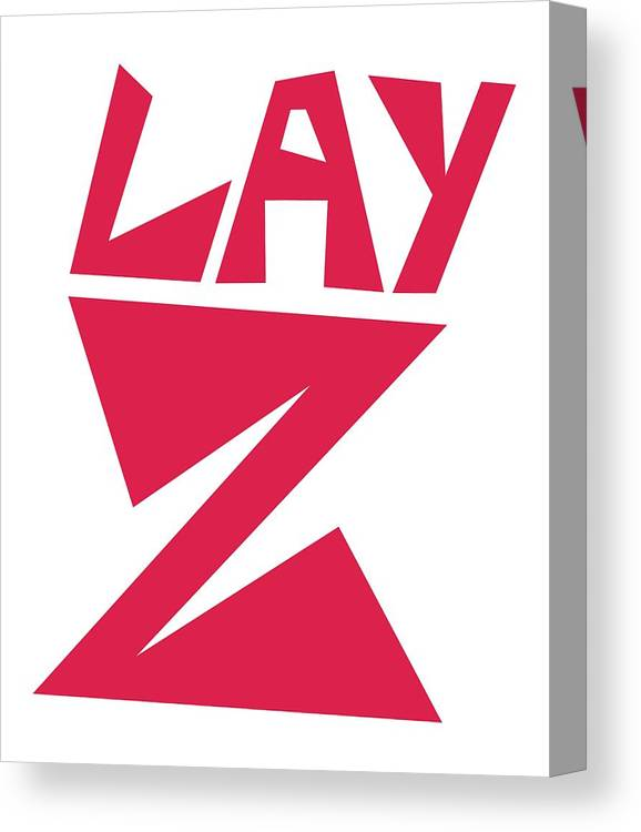 Funny-graphic-tees Canvas Print featuring the digital art Lay Z by Kaylin Watchorn