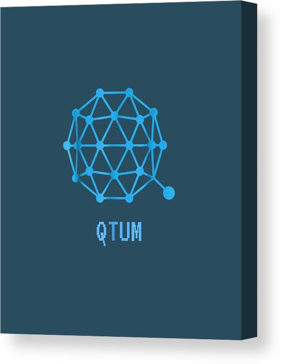 men's Novelty T-shirts Canvas Print featuring the digital art Qtum Cryptocurrency Crypto Tee Shirt by Unique Tees