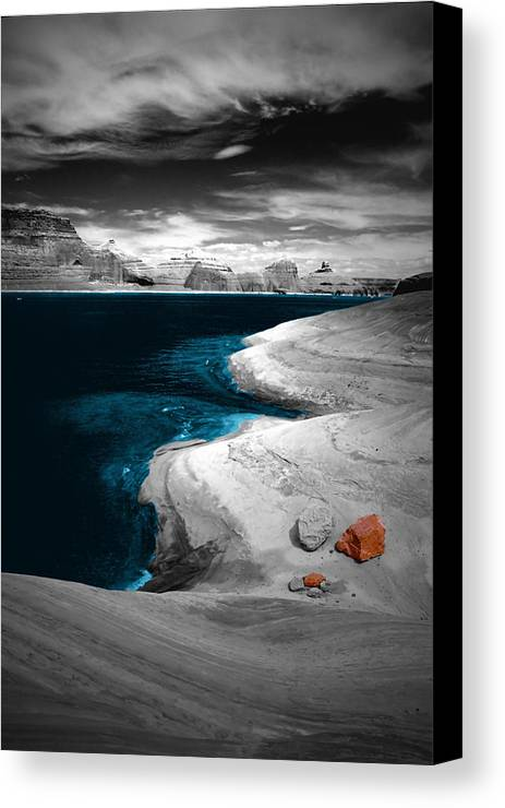 Photography Canvas Print featuring the photograph Liquid Blue Inlets by Tom Fant