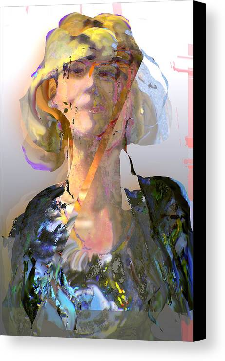 Portrait Canvas Print featuring the mixed media Olga by Noredin Morgan