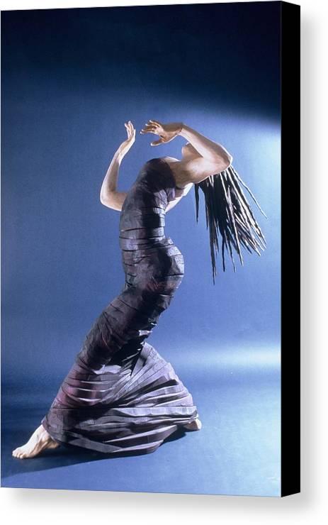 Dance Canvas Print featuring the sculpture African Dancer Left View by Gordon Becker