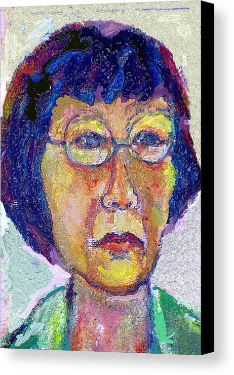 Portrait Canvas Print featuring the painting Hellen by Noredin Morgan