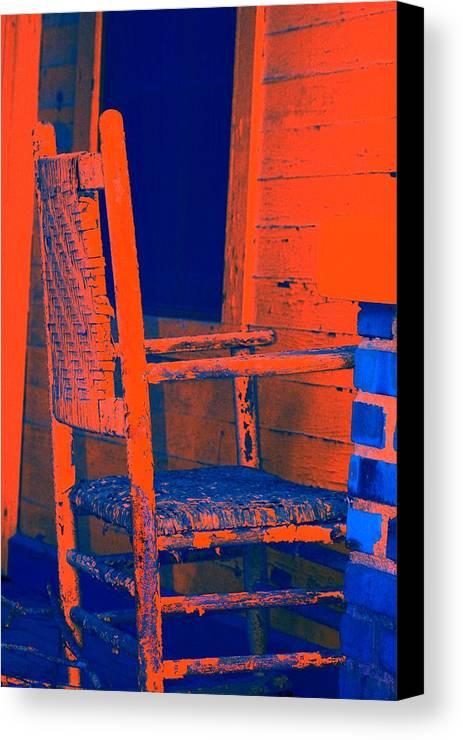 Chair Canvas Print featuring the digital art Rocking Chair by Lisa Johnston