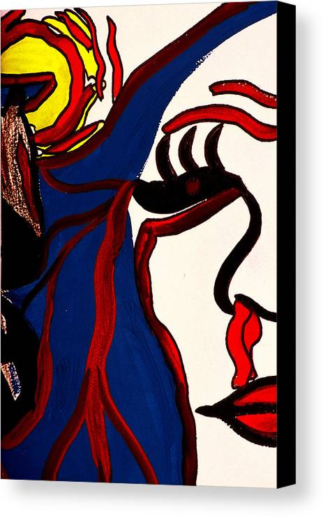 Abstract Canvas Print featuring the print The Vision by William Watson