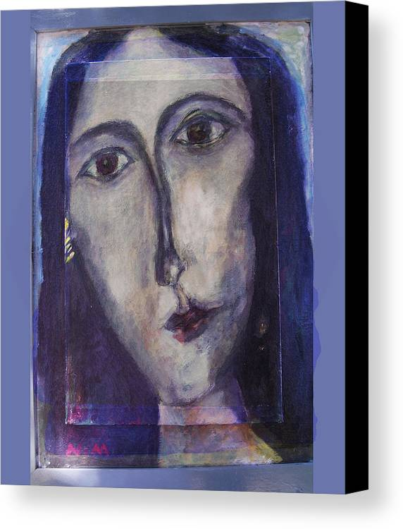 Portrait Canvas Print featuring the mixed media Coptic by Noredin Morgan