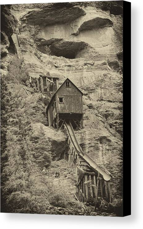 Abandoned Canvas Print featuring the photograph Abandoned Mine by Melany Sarafis