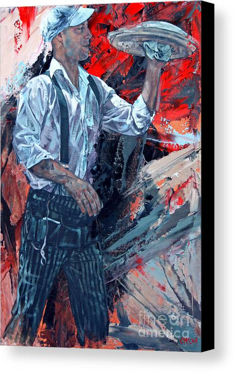 Claire Canvas Print featuring the painting French Waiter by Claire McCall