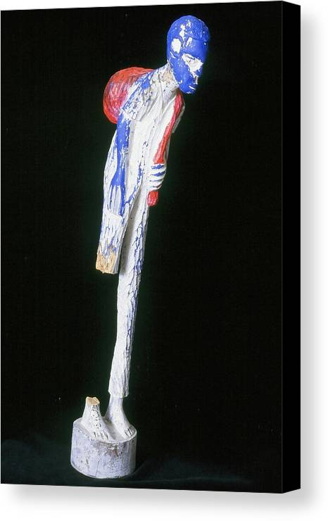 Fine Art Canvas Print featuring the sculpture Hardened by Iris Gill