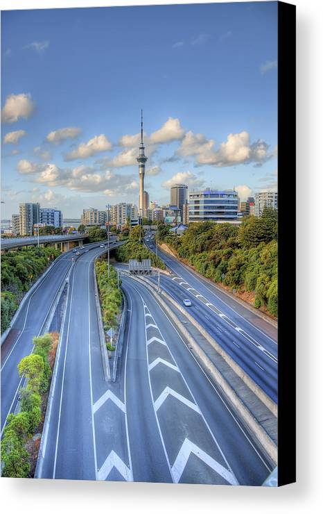 Auckland City Canvas Print featuring the photograph Spaghetti Junction by Dave McGregor