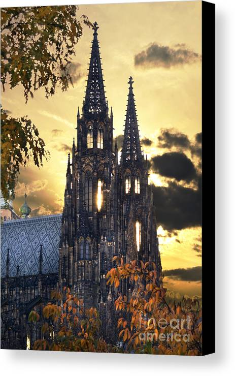 Prague Canvas Print featuring the pyrography St Vitus Church In Hradcany Prague by Jelena Jovanovic