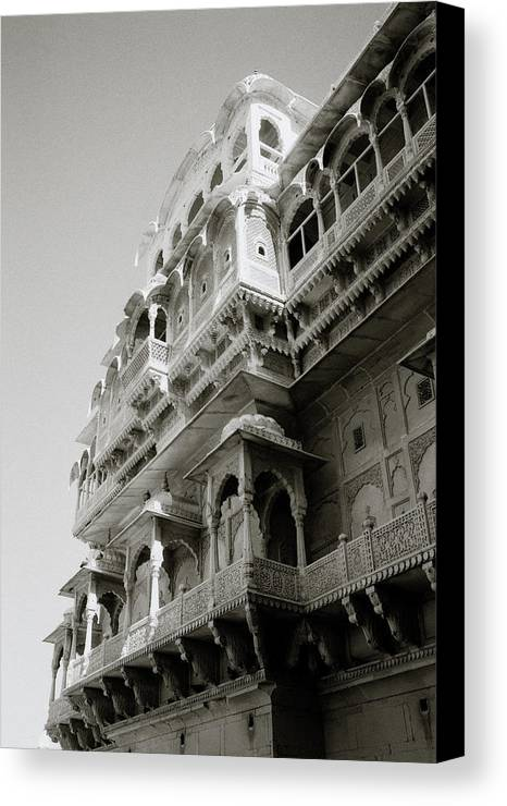 Jaisalmer Canvas Print featuring the photograph The City Palace by Shaun Higson