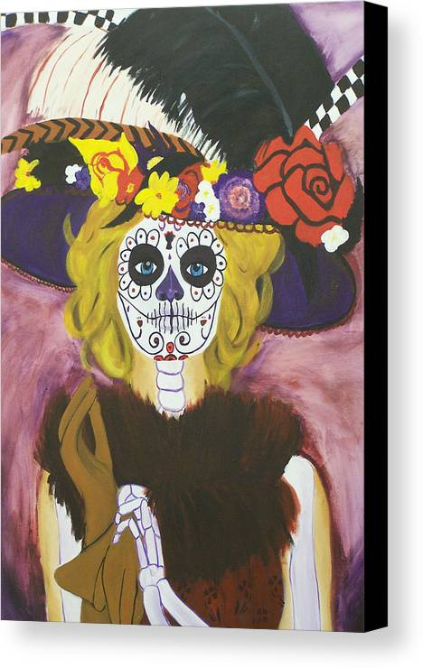 Catrina Canvas Print featuring the painting Catrina by Sonia Orban-Price