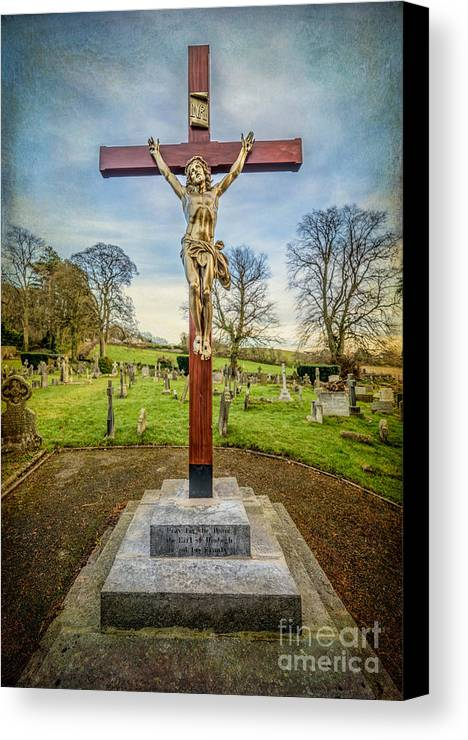 British Canvas Print featuring the photograph The Cross by Adrian Evans