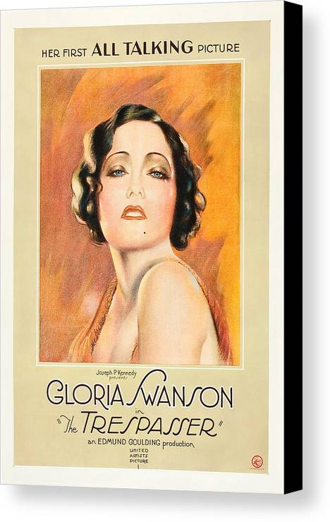 1920s Movies Canvas Print featuring the photograph The Trespasser, Gloria Swanson, 1929 by Everett