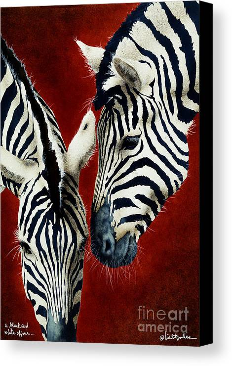 Will Bullas Canvas Print featuring the painting A Black And White Affair... by Will Bullas