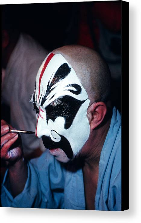 Man Canvas Print featuring the photograph A Spooky Kabuki by Carl Purcell