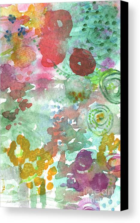 Flowers Canvas Print featuring the painting Abstract Garden by Linda Woods
