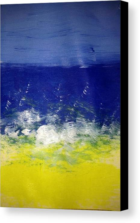 Ocean Canvas Print featuring the photograph Art Therapy 174 by Michele Monk
