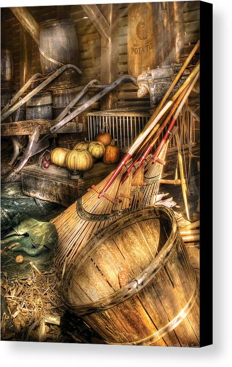 Savad Canvas Print featuring the photograph Autumn - This Years Harvest by Mike Savad