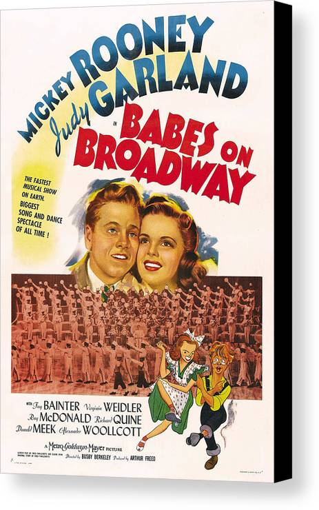 1940s Movies Canvas Print featuring the photograph Babes On Broadway, Us Poster Art by Everett
