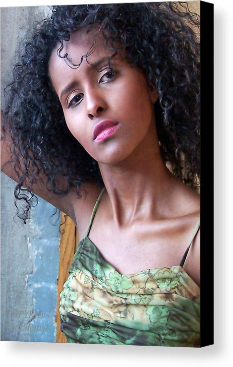 Portrait Canvas Print featuring the photograph Beauty by Gary at TopPhotosI