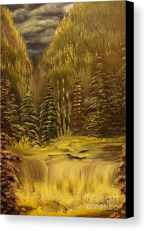 Waterfalls Canvas Print featuring the painting Before The Storm-original Sold-buy Giclee Print Nr 37 Of Limited Edition Of 40 Prints by Eddie Michael Beck