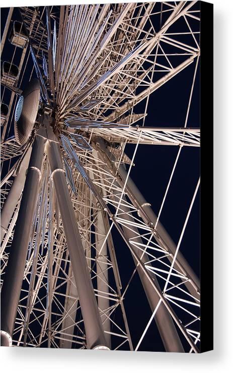 Ferris Wheels Canvas Print featuring the photograph Big Wheel by John Schneider