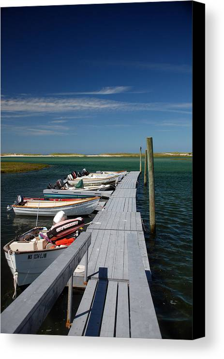 Beach Canvas Print featuring the photograph Boats At Bass Hole by Mark Wiley