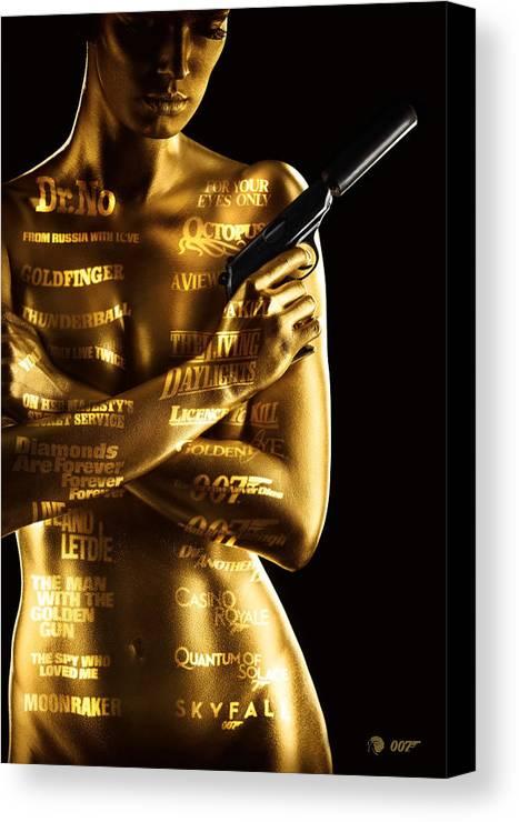 James Canvas Print featuring the photograph Bond 50 by Patrick Charbonneau