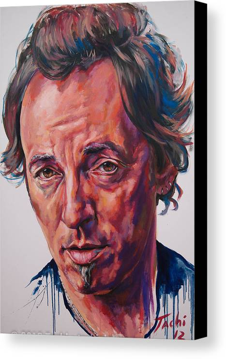 Bruce Canvas Print featuring the painting Bruce by Tachi Pintor