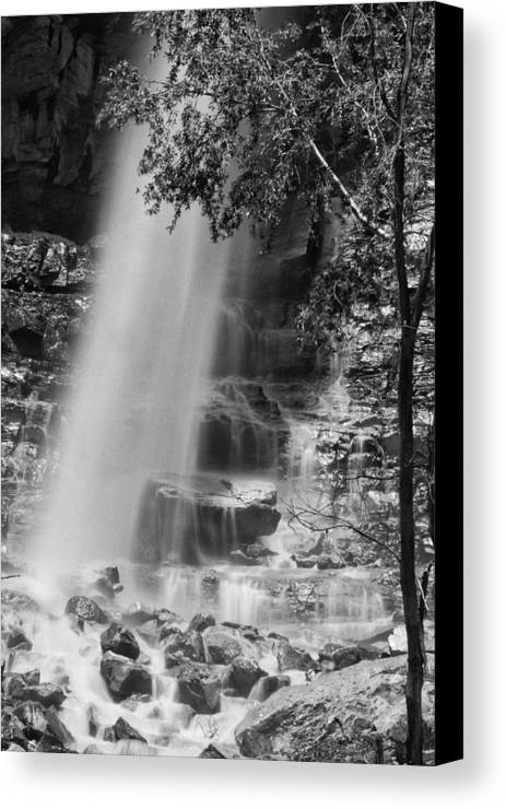 Best Sellers Canvas Print featuring the photograph Cascade Falls by Melany Sarafis