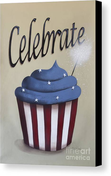 Art Canvas Print featuring the painting Celebrate The 4th Of July by Catherine Holman