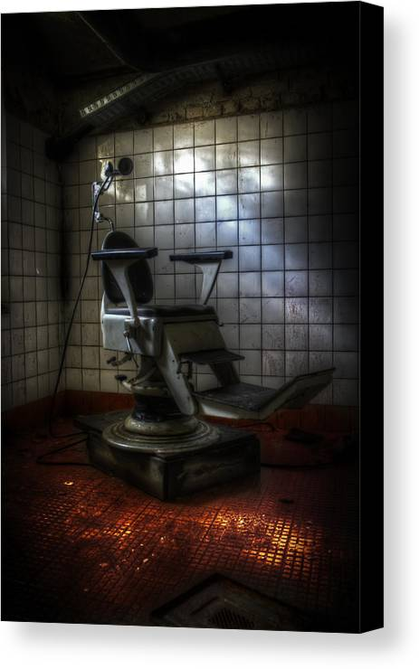 Berlin Canvas Print featuring the digital art Chair Of Horror by Nathan Wright