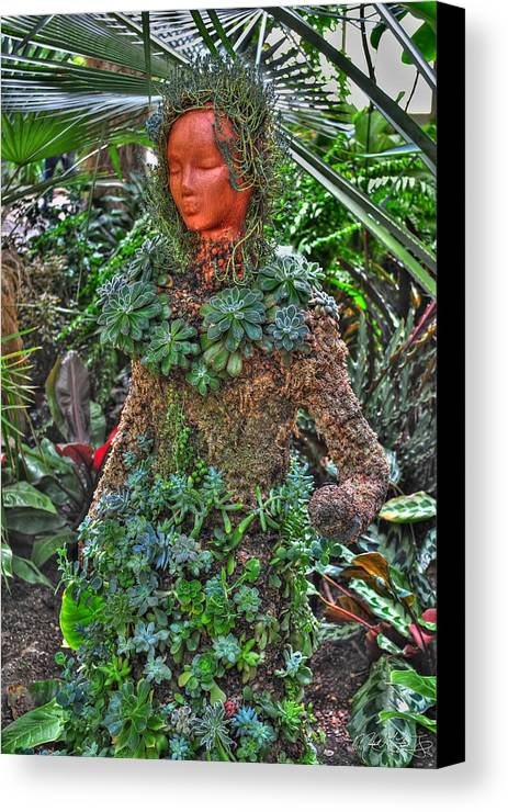 Buffalo Botanical Gardens Canvas Print featuring the photograph Could Her Name Be Ivy... Buffalo Botanical Gardens Series by Michael Frank Jr