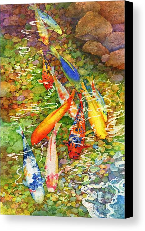 Coy koi canvas print canvas art by hailey e herrera for Koi canvas print