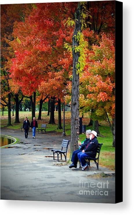 Fall Canvas Print featuring the photograph Fall Couples by Jost Houk