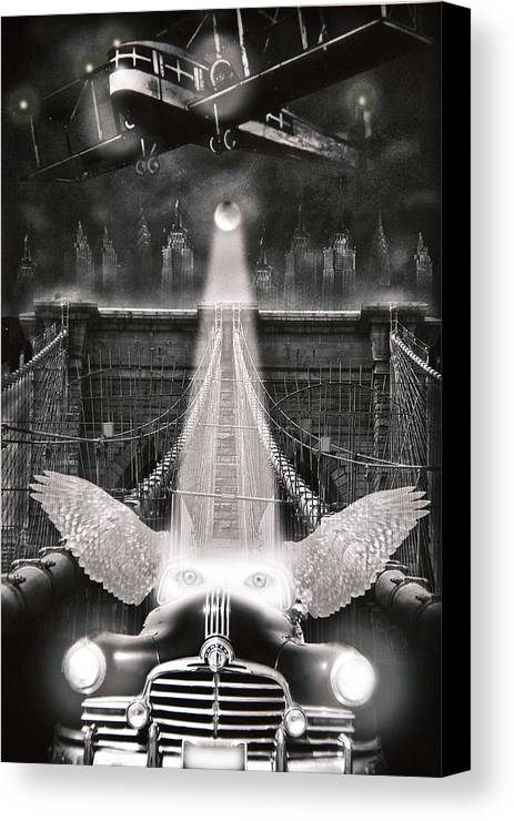 Surrealism Canvas Print featuring the photograph Fly Me To The Moon by Larry Butterworth