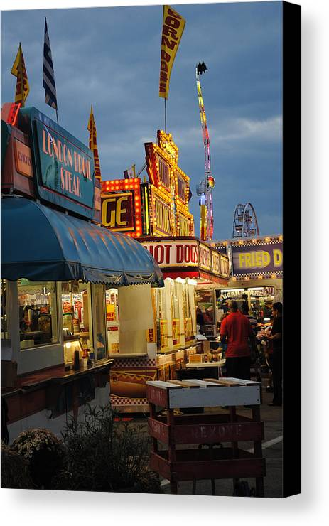 Scenic Tours Canvas Print featuring the photograph Food Court by Skip Willits