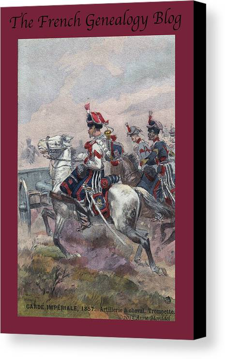 France Canvas Print featuring the photograph Garde Imperiale 1857 With Fgb Border by A Morddel