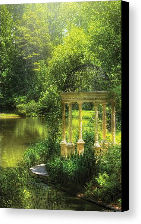 Savad Canvas Print featuring the photograph Garden - The Temple Of Love by Mike Savad