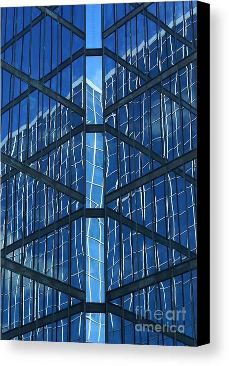 Blue Canvas Print featuring the photograph Geometric Reflection by Aimelle