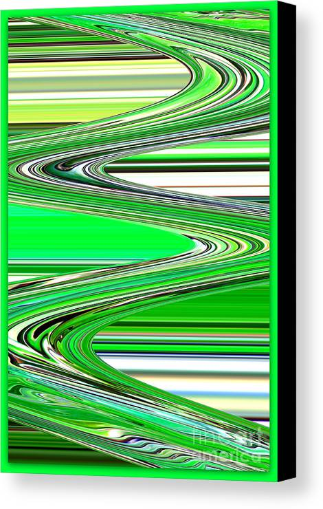 Green Abstract Canvas Print featuring the photograph Go With The Flow by Carol Groenen
