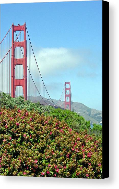 Golden Gate Bridge Canvas Print featuring the photograph Golden Gate by Suzanne Gaff