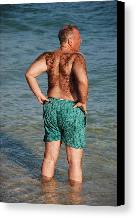 Man Canvas Print featuring the photograph Hairy Ocean by Rob Hans