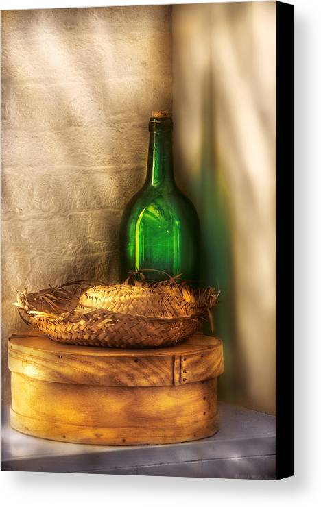 Savad Canvas Print featuring the photograph Hat Maker - A Hat Box And It's Hat by Mike Savad
